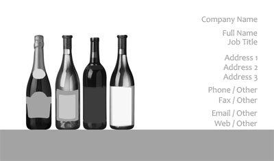 Wine Bottles Business Card Template